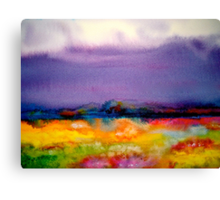 Landscape Abstract...Summer Rain Canvas Print