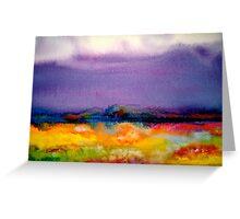 Landscape Abstract...Summer Rain Greeting Card