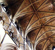 Vaulting, Worcester Cathedral, UK. by artfulvistas