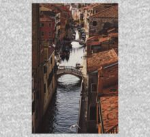 Red Roofs of Venice One Piece - Short Sleeve