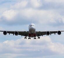 Emirates Airbus A380 by DavidHornchurch