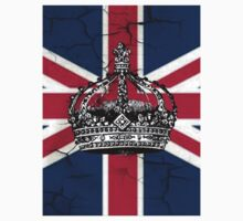 British union jack flag jubilee vintage crown  Kids Tee