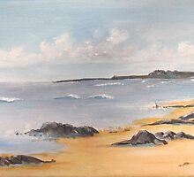 Hemmick Beach, Cornwall, UK by Linda Ridpath