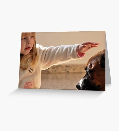 Touch. Greeting Card