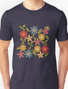 Painted flowers and leaves T-Shirt