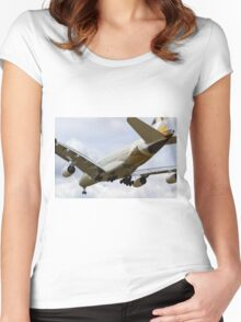 Etihad Airlines Airbus A380 Women's Fitted Scoop T-Shirt