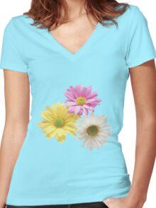 Graceful gerbera Women's Fitted V-Neck T-Shirt