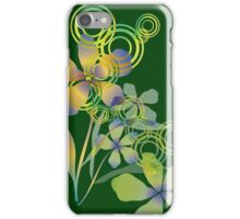 Abstract gradient flowers iPhone Case/Skin