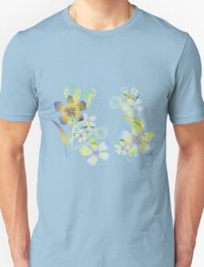 Abstract gradient flowers T-Shirt