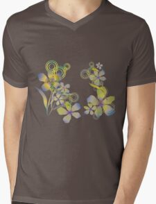 Abstract gradient flowers Mens V-Neck T-Shirt