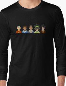 Avatar the Last Airbender Trixelart group Long Sleeve T-Shirt