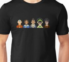 Avatar the Last Airbender Trixelart group Unisex T-Shirt