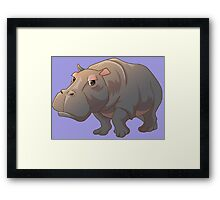 Cute cartoon hippo Framed Print