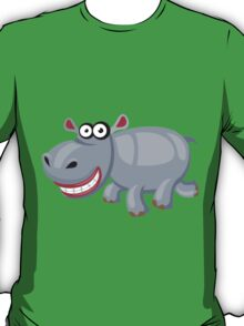 Smiling funny hippo T-Shirt
