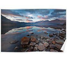 Sunrise over Derwent water Poster