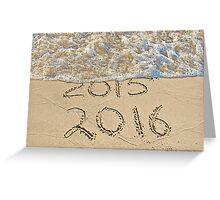 New Year Beach 2016 Greeting Card