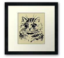 The Startled Cat. Framed Print