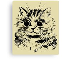 The Startled Cat. Canvas Print