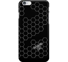 Beehive and Bee Black iPhone Case/Skin