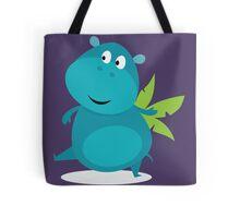 Dancing blue hippo Tote Bag
