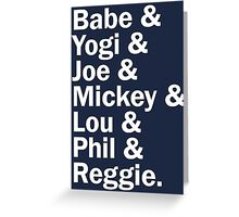 New York Yankee Legends - LIMITED Greeting Card