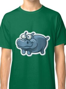 Silly funny hippo Classic T-Shirt