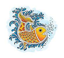 Orange Fish Photographic Print