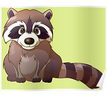 Little cute raccoon Poster