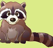 Little cute raccoon by Olga Chetverikova