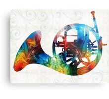 Colorful French Horn - Color Fusion By Sharon Cummings Metal Print