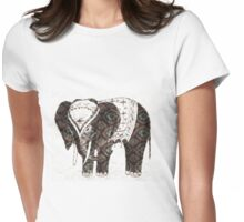 Festive lovely Elephant  Womens Fitted T-Shirt