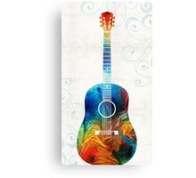 Colorful Guitar Art by Sharon Cummings  Canvas Print