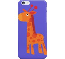 Geometric cute giraffe iPhone Case/Skin