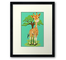 Jolly giraffe and tree Framed Print