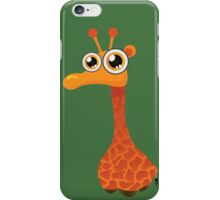 Goggle-eyed funny giraffe iPhone Case/Skin