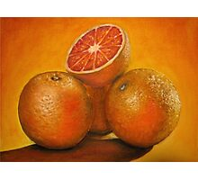 Oranges oil painting Photographic Print