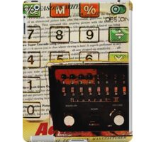 funky geek nerd shortwave radio retro calculator  iPad Case/Skin
