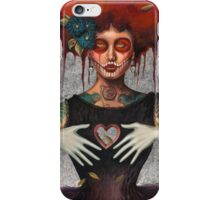 Muertos Day of the dead heartless Sylvia Lizarraga iPhone Case/Skin