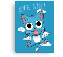 Aye Sir! Canvas Print