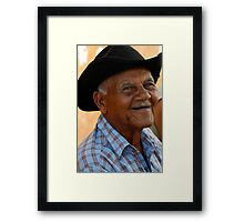 Smiling old man, Trinidad, Cuba Framed Print