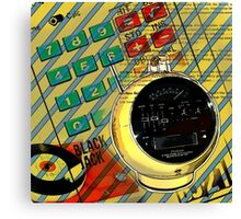 funky geek nerd alarm clock retro calculator  Canvas Print