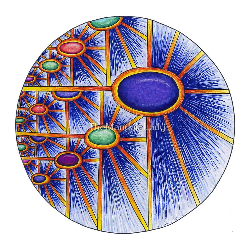 Cosmic Sunflower by TheMandalaLady