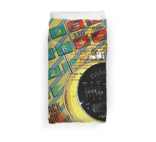 funky geek nerd alarm clock retro calculator  Duvet Cover