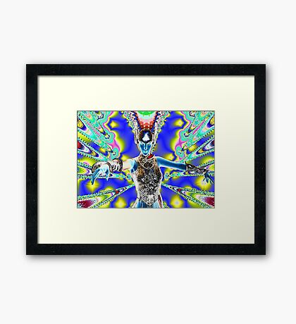 Warrior in Colour Framed Print