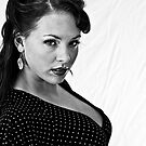 B&w portrait of Kara by jwinman