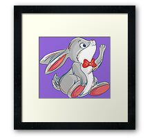 Cute rabbit with bow Framed Print