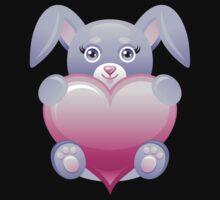 Lovely baby rabbit with heart Kids Clothes