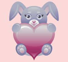 Lovely baby rabbit with heart Baby Tee
