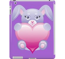 Lovely baby rabbit with heart iPad Case/Skin