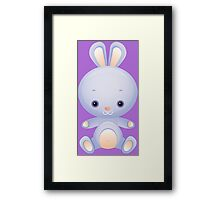 Watercolor baby rabbit Framed Print